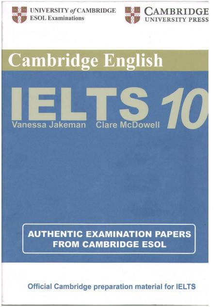 CAMBRIDGE IELTS 10 + Answer Key--IELTS2.com