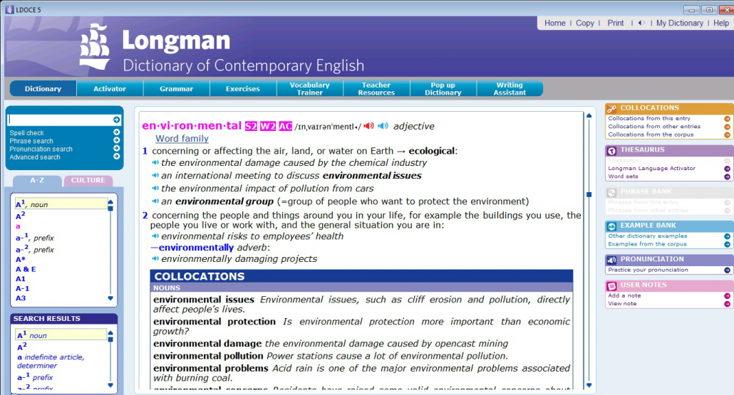 Longman dictionary for ielts and toefl