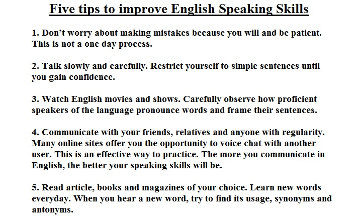How to Improve English Speaking