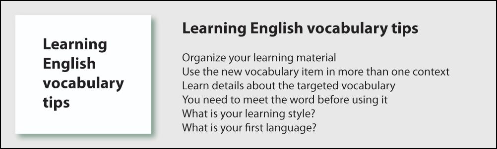 Learning English vocabulary Methods