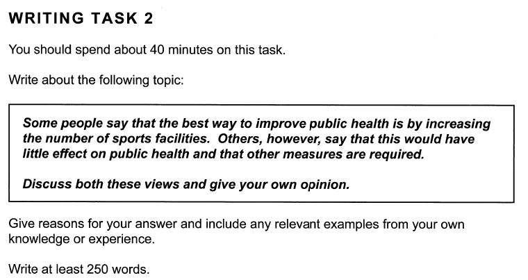 Academic IELTS Writing Task 2 Test 3