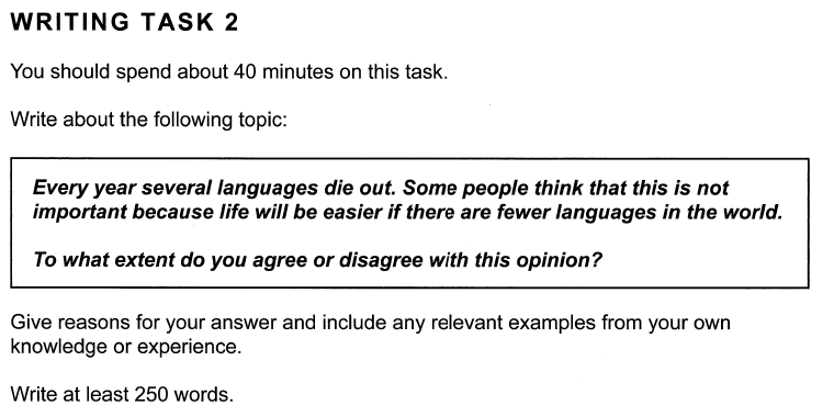 Academic IELTS Writing Task 2 Test 4