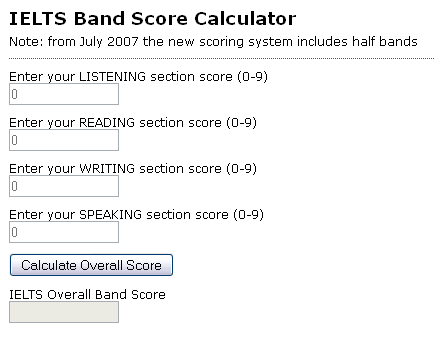 IELTS BandScore Calculator