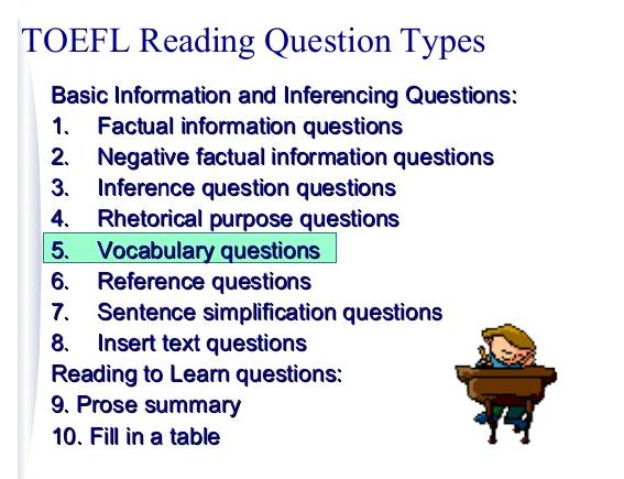 TOEFL Reading Question Types