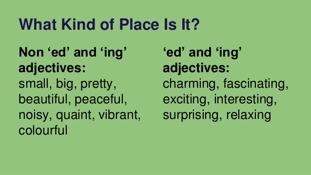 Adjectives in IELTS TOEFL