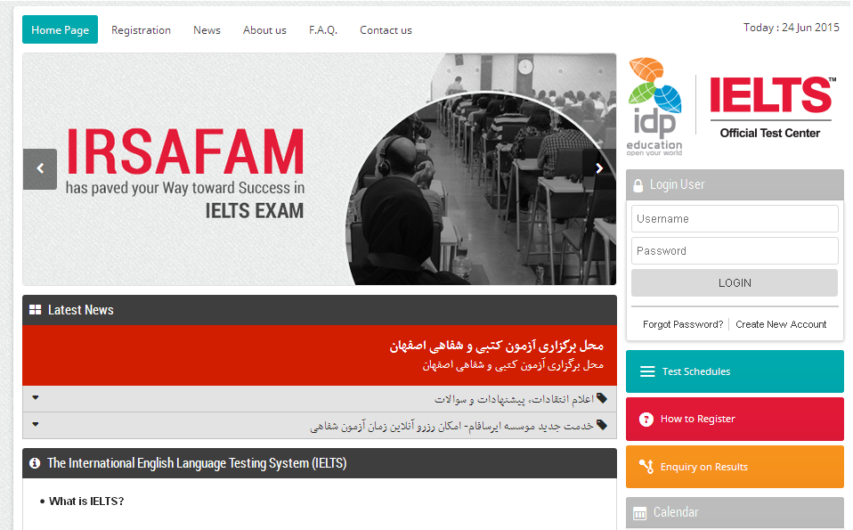 Irsafam IELTS Center