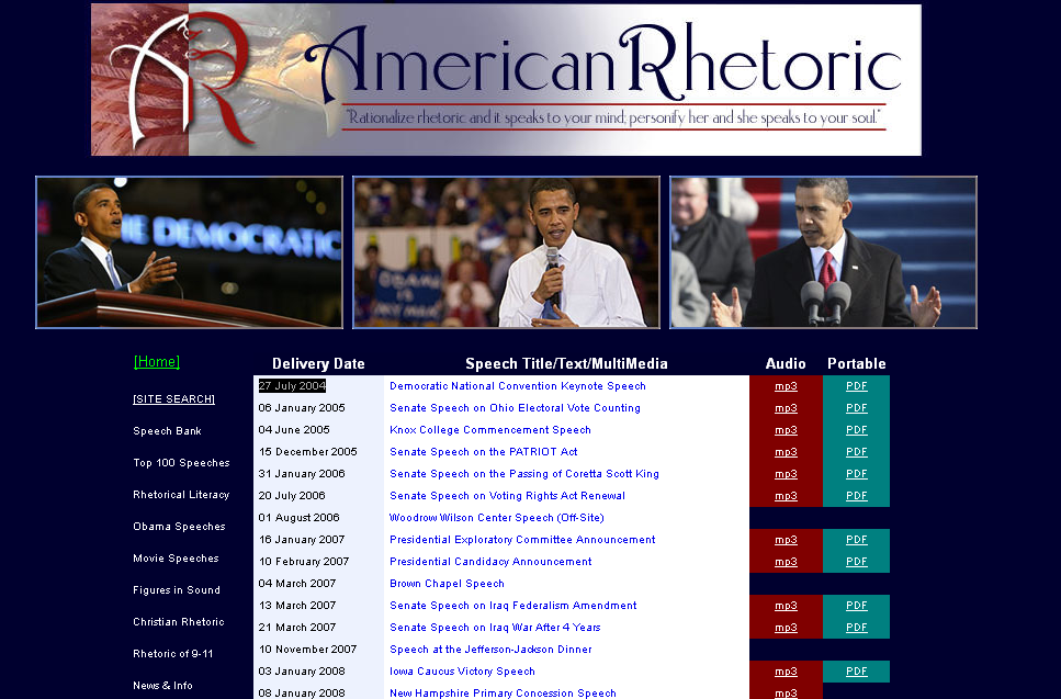 Obama Speeches + Text for Download