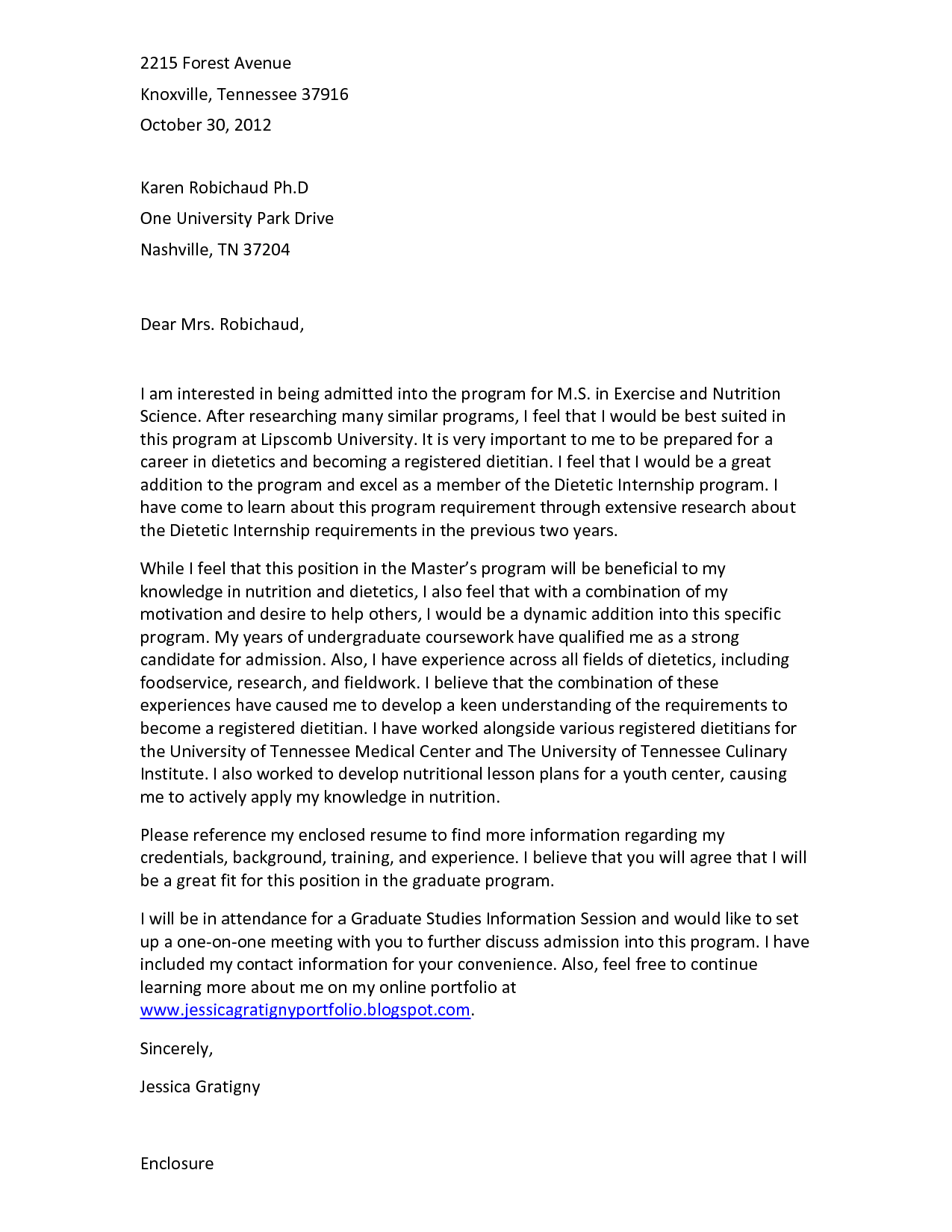 motivation letter example for university