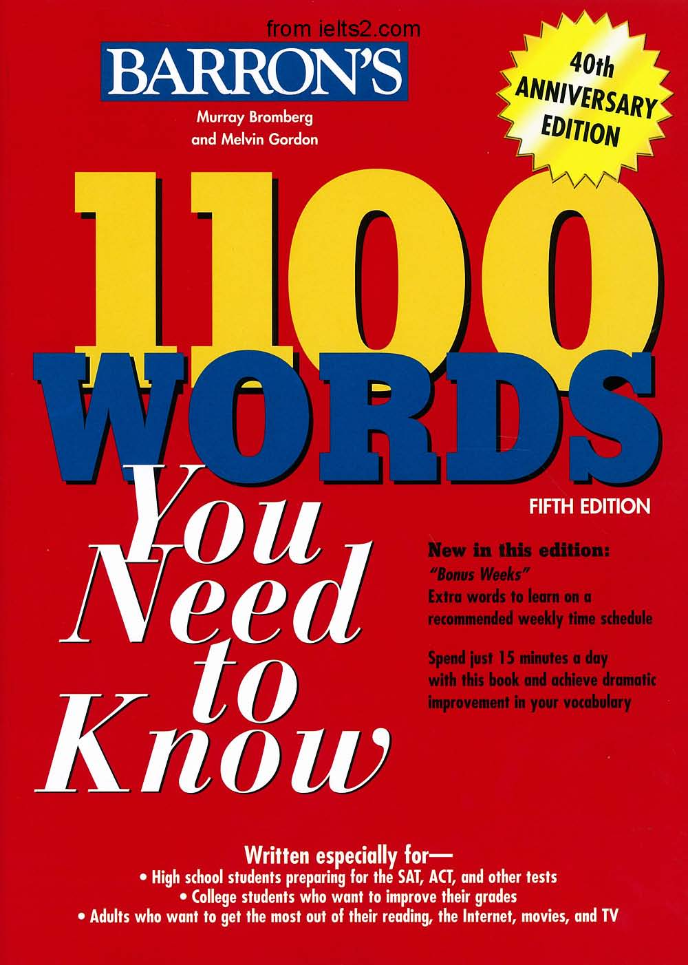 Barrons 1100 Words You Need to Know 5th--from ielts2.com