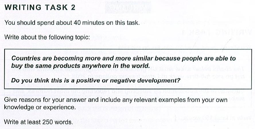 Cambridge IELTS 10, Test 3, Task 2