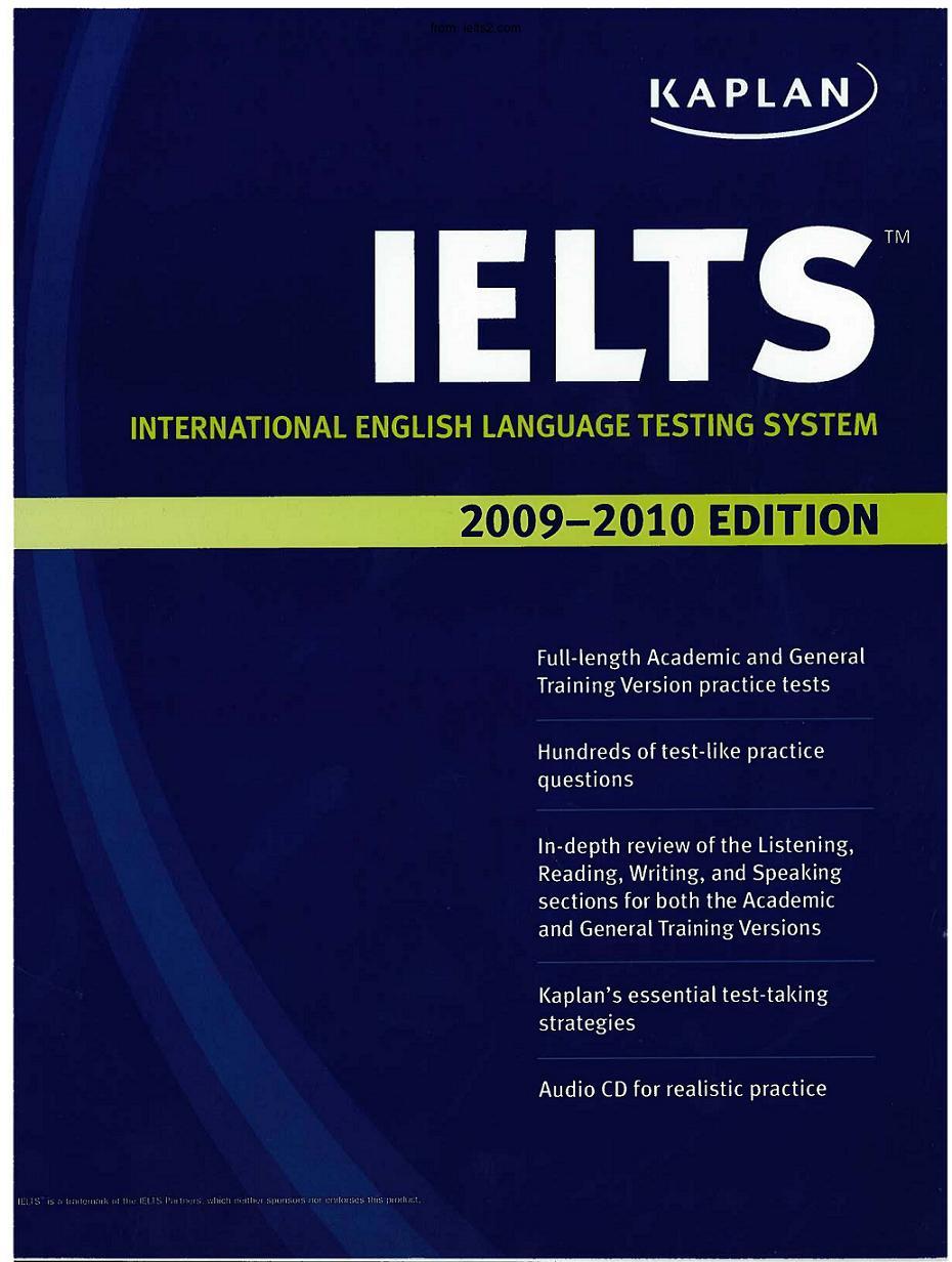 Kaplan IELTS 2009 2010 Edition--from ielts2.com