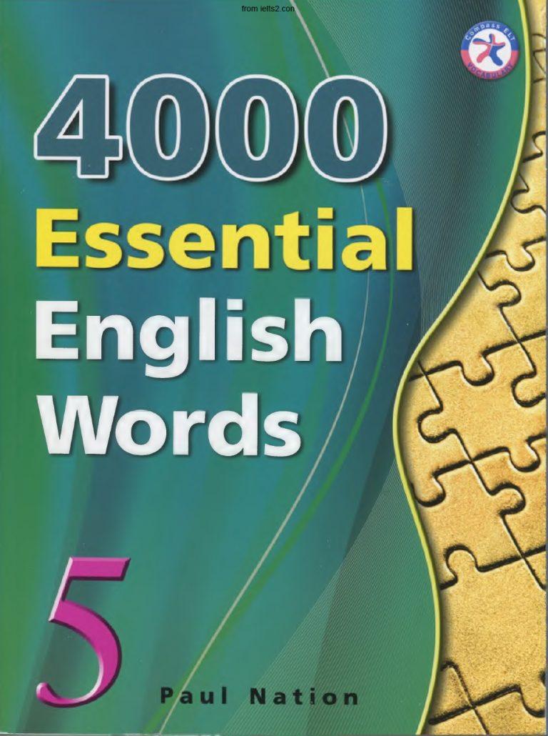 دانلود کتاب 4000 لغت ضروری انگلیسی