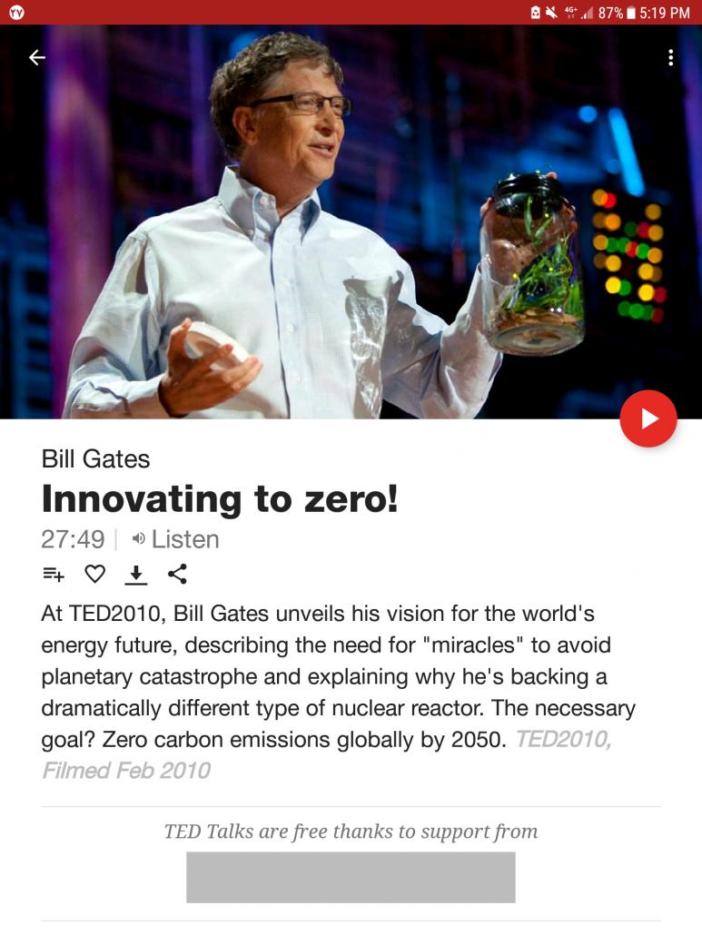 سخنرانی بیل گیتس در TED