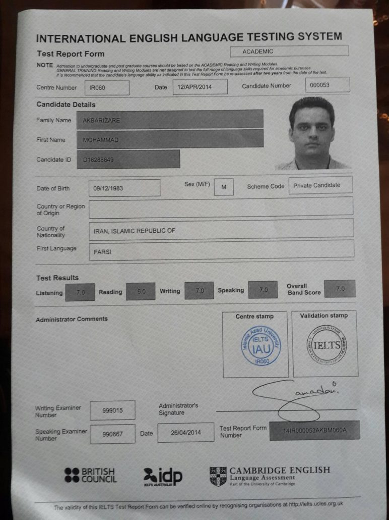 Academic IELTS Band 7 Muhammad Akbari