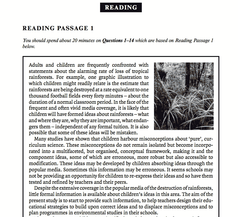 ielts reading passage