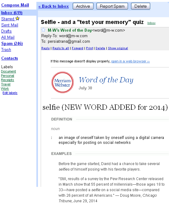 Merriam webster word of the day