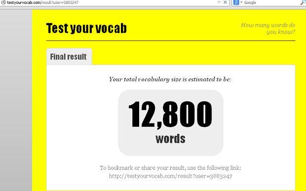 Vocabulary size Test