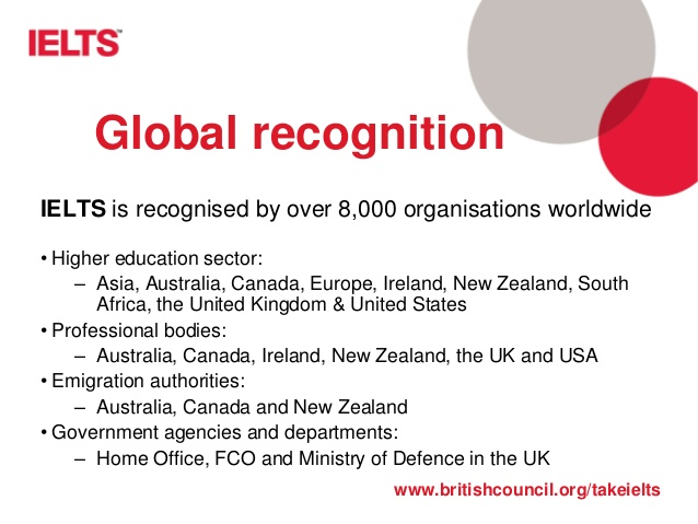 ielts global recongition