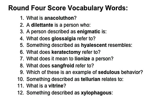 Hard Vocabulary for IELTS