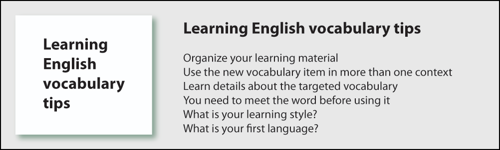 Learning English vocabulary Methods