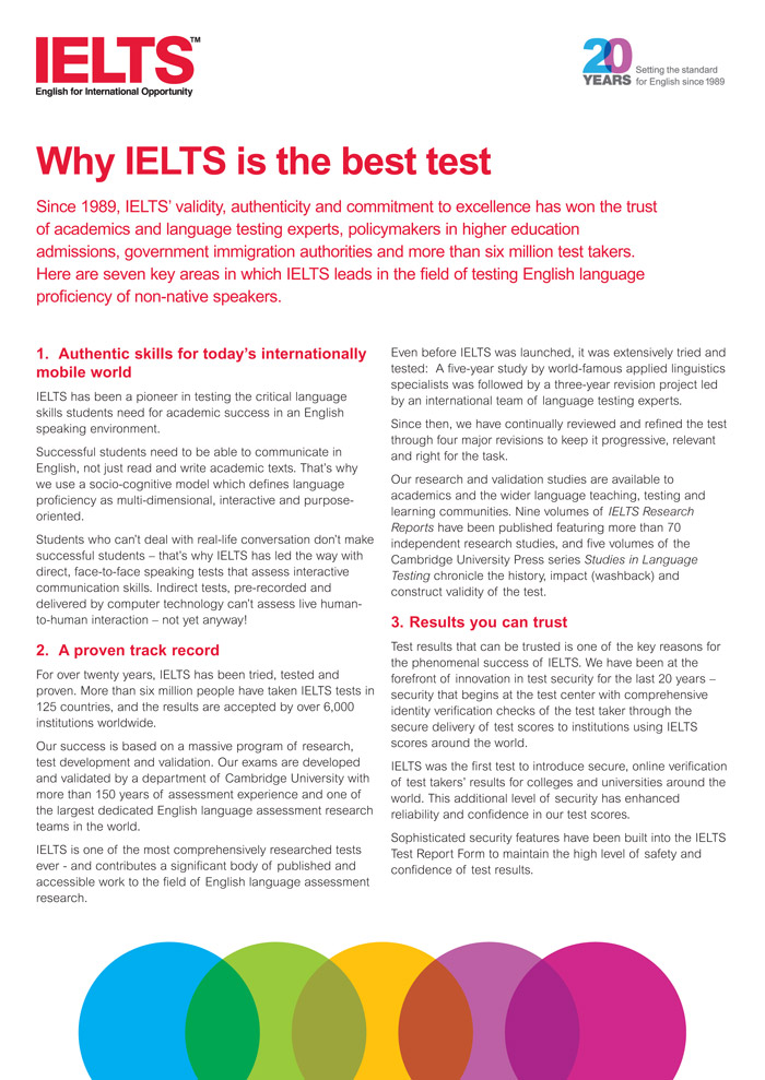 Why IELTS