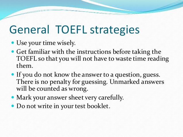 Improving TOEFL Score