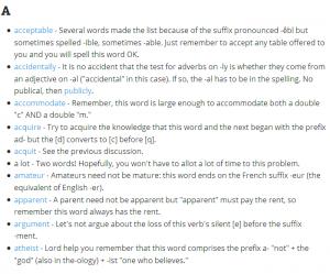 ۱۰۰ واژه ای که در زبان انگلیسی بیشتر از همه غلط نوشته میشود