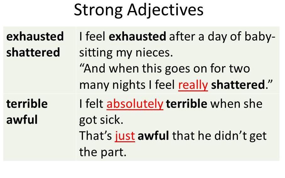 Strong Adjectives
