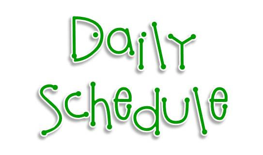 Daily Schedule for Speaking Improvement