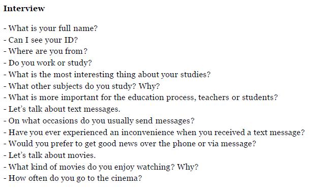 IELTS Exam 2015