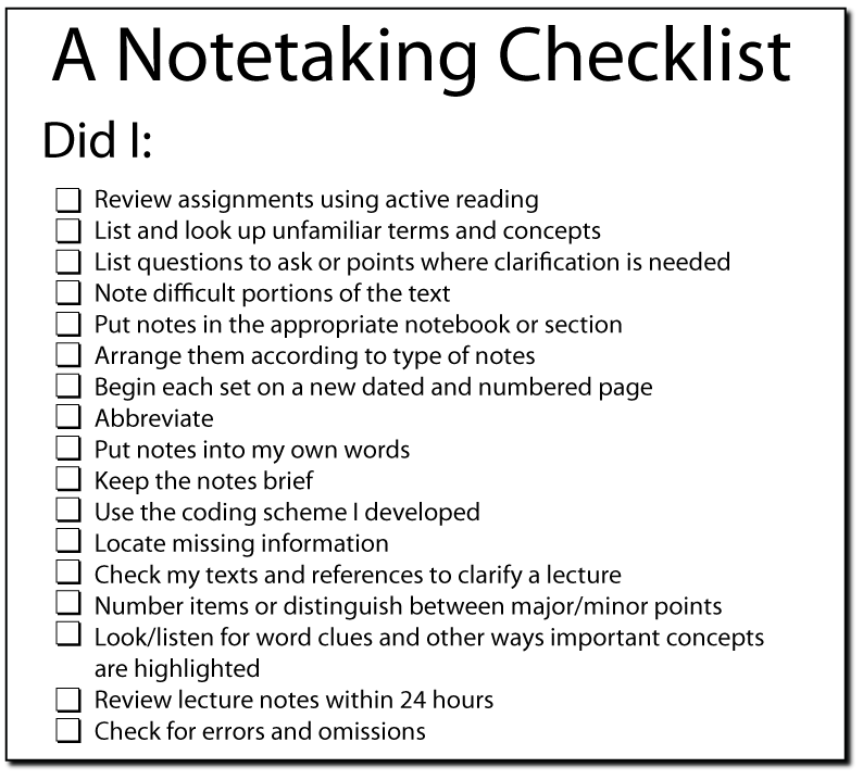 Note Taking for IELTS and TOEFL