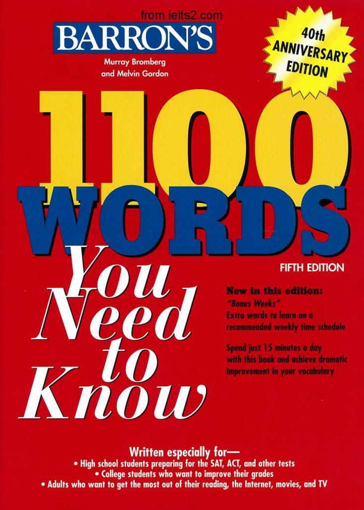 دانلود فهرست کامل واژگان کتاب 1100