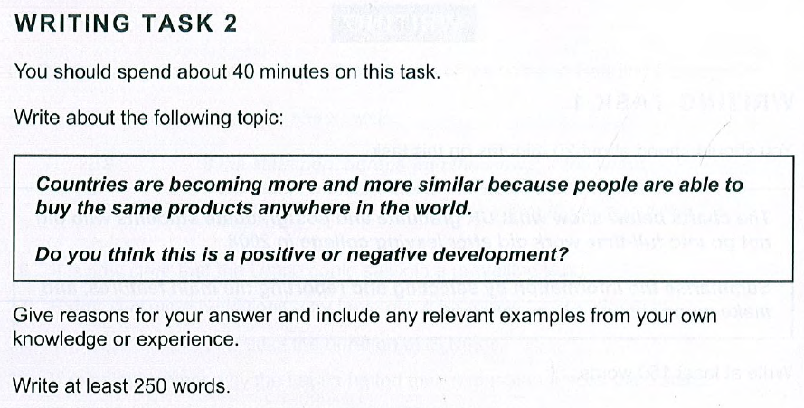 Cambridge IELTS 10, Test 3, Task 2