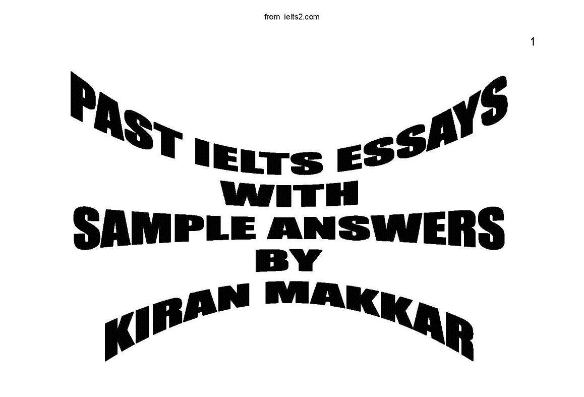 Past IELTS Essays--from ielts2.com