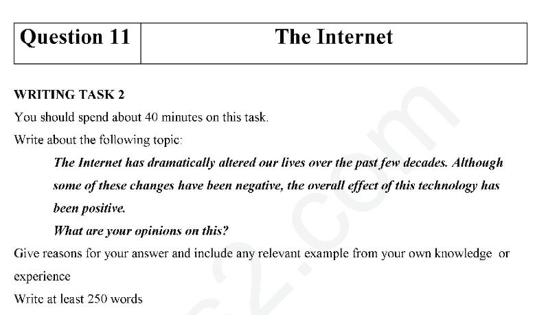 سمپل رایتینگ آیلتس جنرال Advantages Disadvantages Internet