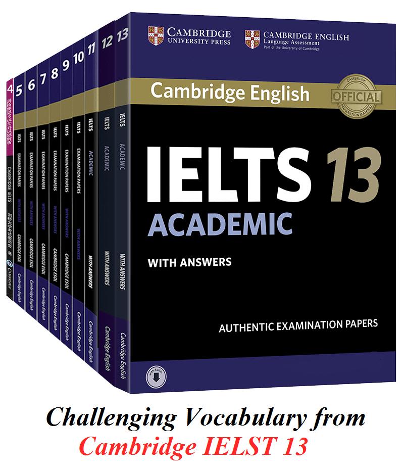 دانلود لغات دشوار کتاب کمبریج آیلتس 13 آکادمیک