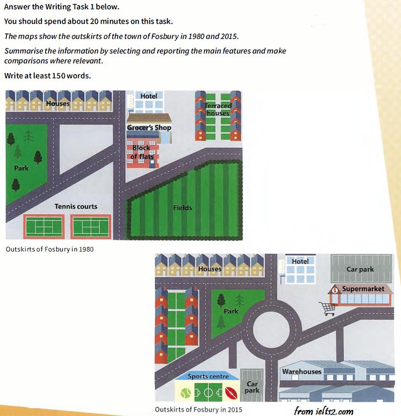 نمونه رایتینگ آیلتس آکادمیک تسک 1 - نقشه
