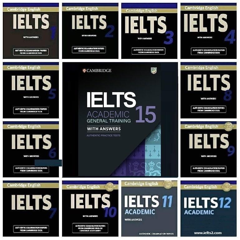 چند جلد از کمبریج آیلتس ها برای امتحان لازم هستند؟