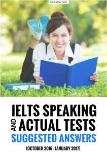 دانلود IELTS Speaking Actual Tests اکتبر 2016 تا ژانویه 2017