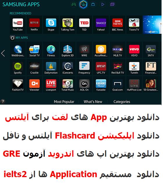 دانلود اپلیکیشن های اندرویدی آیلتس، تافل و زبان انگلیسی