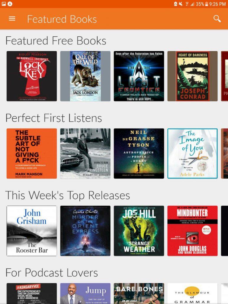 دانلود اپلیکیشن اندروید کتاب های صوتی آموزش انگلیسی