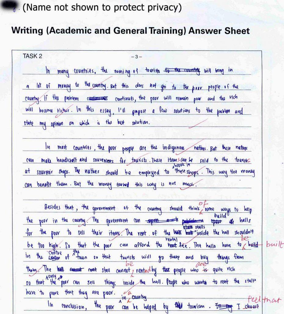 نحوه نوشتن رایتینگ آیلتس آکادمیک با Example