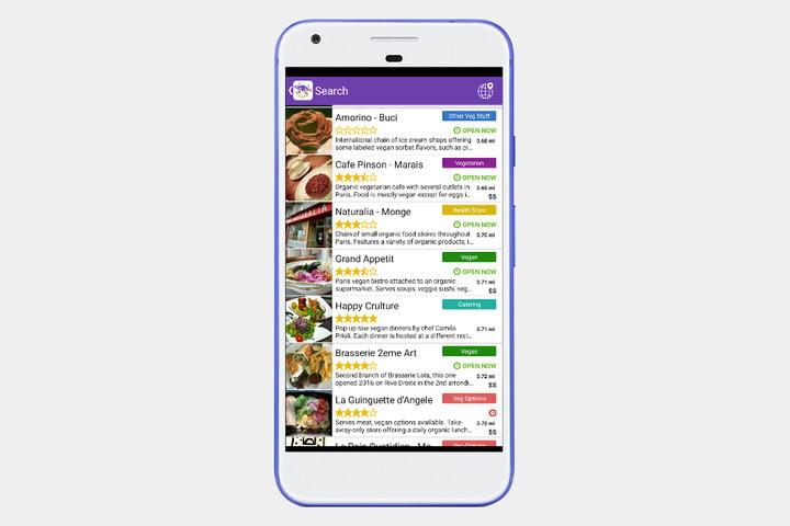 دانلود اپلیکیشن جستجوی رستوران های گیاهی