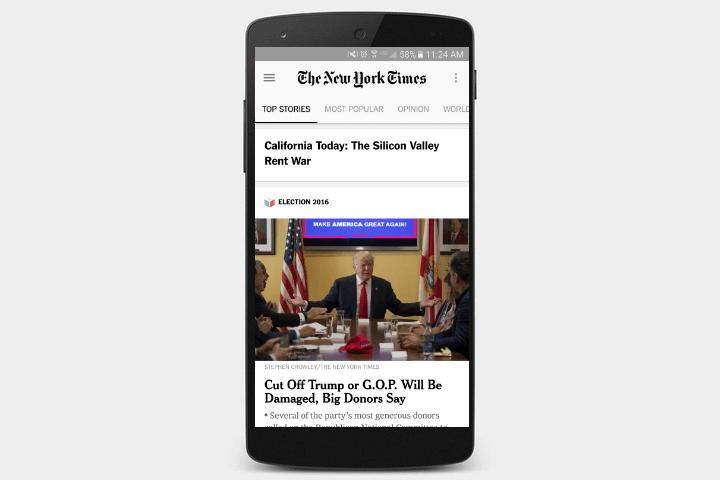 دانلود اپلیکیشن روزنامه نیویورک تایمز برای اندروید