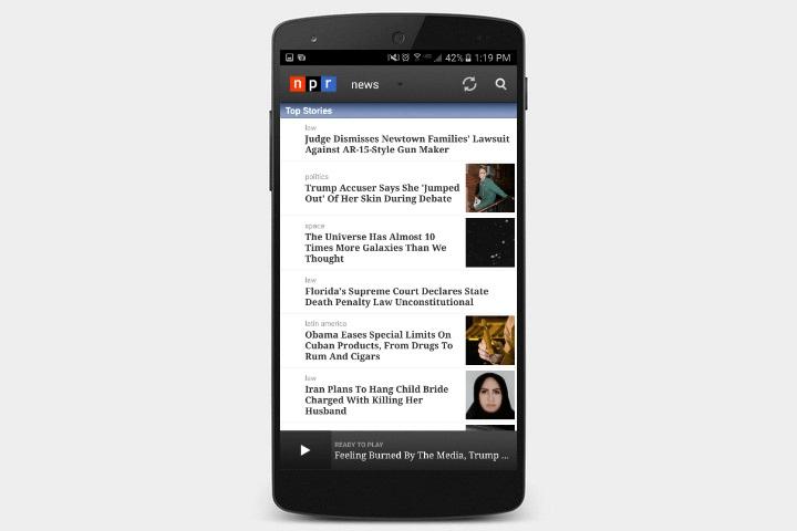 دانلود اپلیکیشن اخبار NPR News برای اندروید
